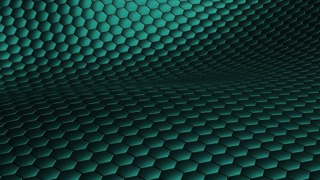 Шестиугольник волна абстрактный зеленый фон