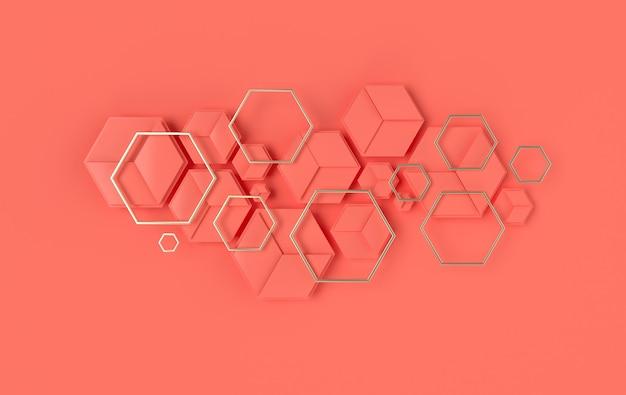 Гексагональный абстрактный фон с эффектом глубины резкости современные сотовые сотовые панели