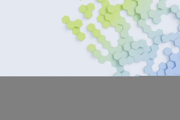 Hexagonal colored background texture d illustration d rendering