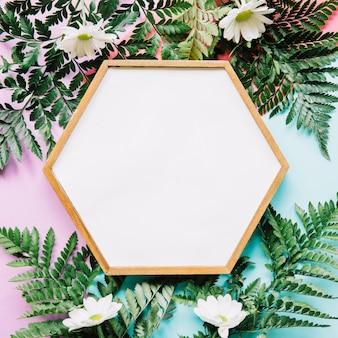 Hexagonal frame on exotic leaves