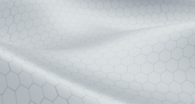 Hexagonal grid texture twisted spiral abstract concept big database background