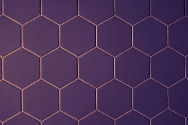 Hexagonal purple pattern tiles