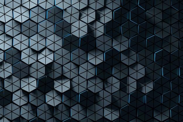 Hexagonal shapes in shadow