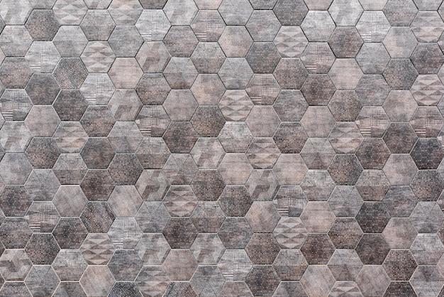 Текстура стены шестиугольной плитки