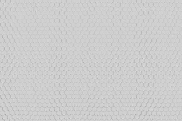 Hexagonal white background