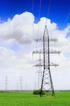 Hi -power transmisson electric  line .