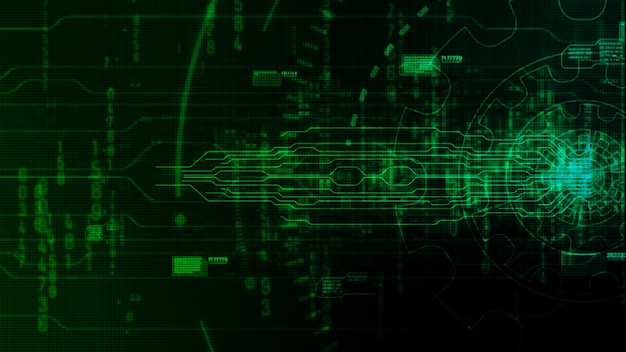 Hi-tech digital abstract background with technology gear