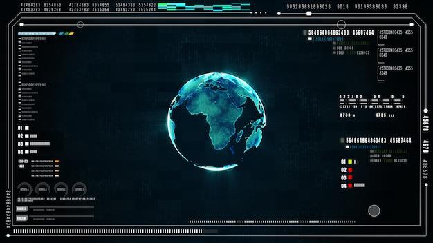 하이테크 미래의 사용자 인터페이스 배경