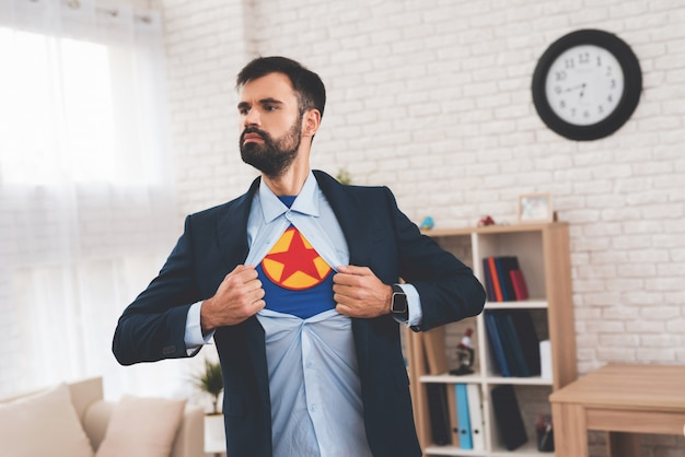Hidden superhero leads a double life.
