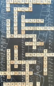 Иероглифы на кроссворде