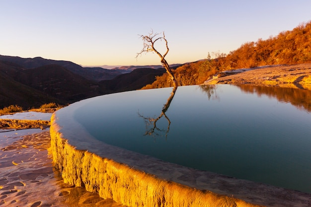 Hierve el agua, natural hot springs in the mexican state of oaxaca