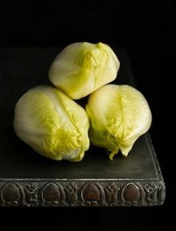 High ange lettuce on table