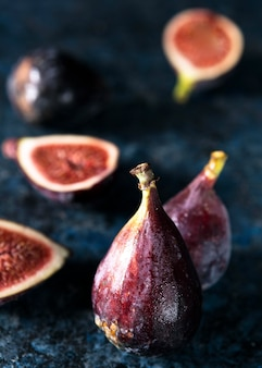 High angle of autumn figs