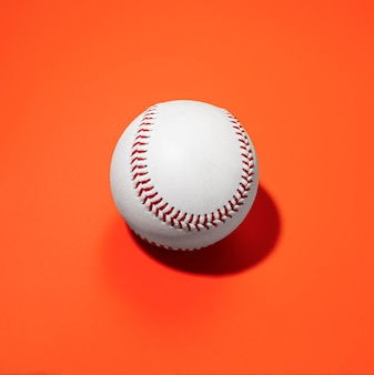 High angle of baseball
