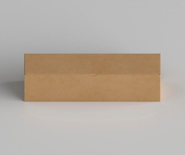 Расположение картонной коробки под большим углом