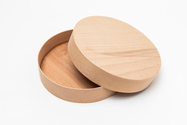Composizione ad alto angolo di scatola di legno