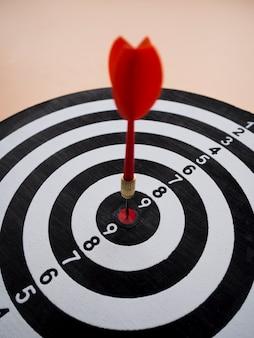High angle of dart and target