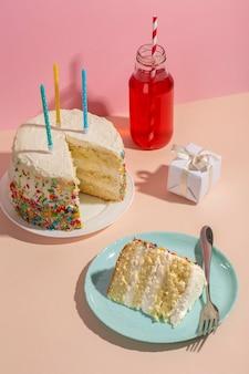 하이 앵글 맛있는 케이크