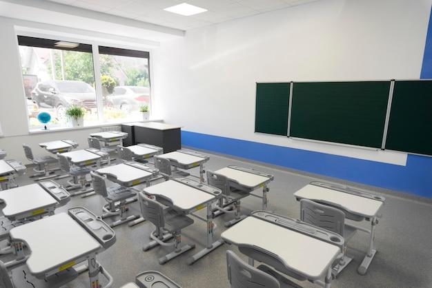 High angle empty class