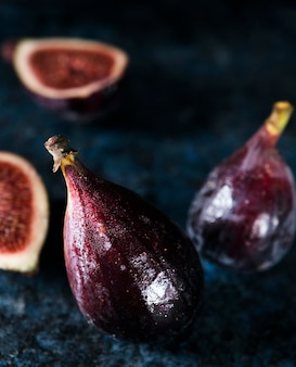 High angle of figs for autumn