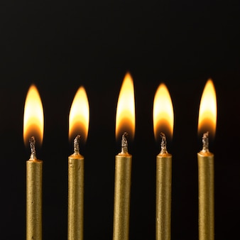 High angle fired candles