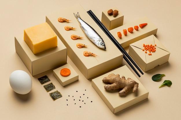 高角度の準菜食主義の食事療法の概念 Premium写真