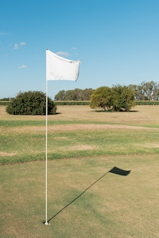 High angle golf field