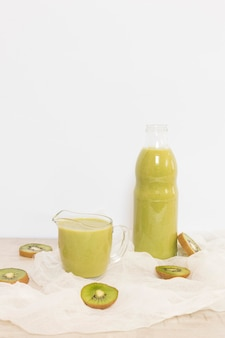 High angle kiwi smoothie