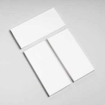 High angle of multiple blank chocolate bars packages