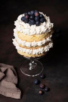 おいしいケーキのコンセプトのハイアングル