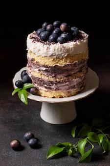 Высокий угол концепции вкусного торта