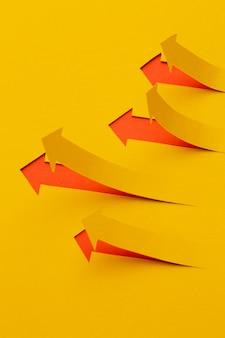 矢印付きの高角度成長統計プレゼンテーション