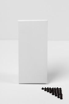 1つのチョコレートタブレットパッケージの高角度