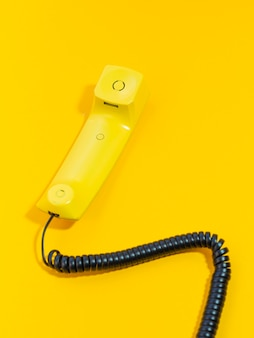 High angle old telephone