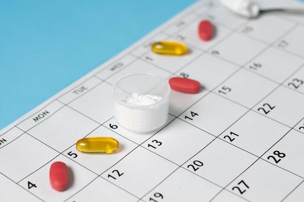 Disposizione delle pillole ad alto angolo