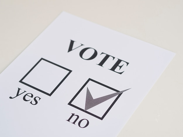 Высокий угол референдума отрицательный выбор