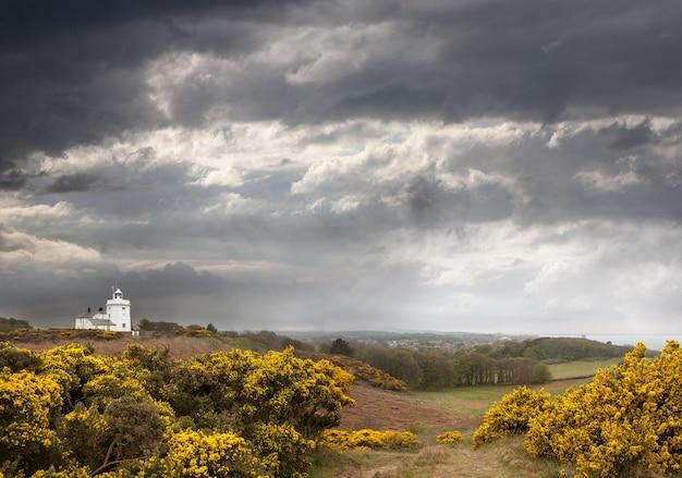 イギリスのノースノーフォークにあるクローマー灯台のハイアングルショット
