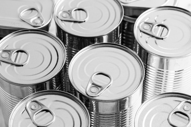 High angle tall tin cans