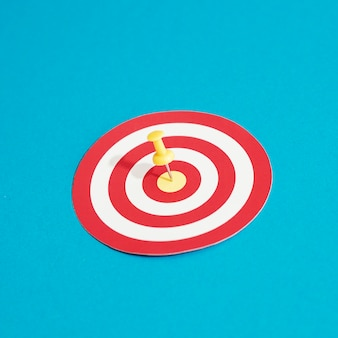 High angle of target with pin