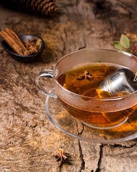 Tè ad alto angolo in vetro