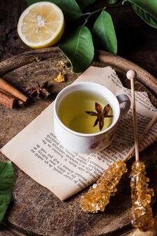 Угольный чай со звездчатым анисом