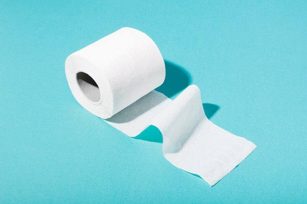 High angle toilet paper roll