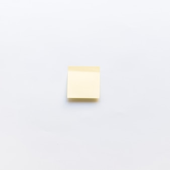High angle view of adhesive note on white background