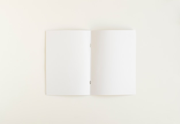 High angle view of blank white card