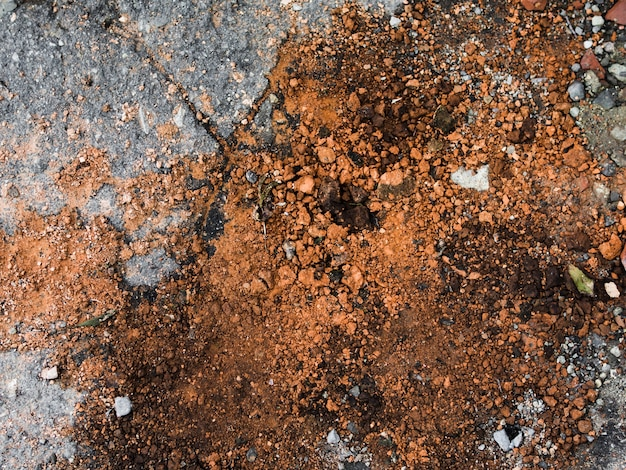 High angle view of brown dirt background