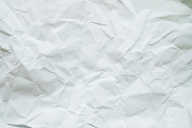 High angle view of crumpled white paper