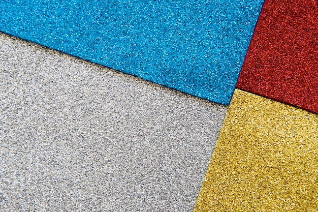 High angle view of multi colored glitter texture background