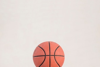 High angle view of basketball on white background