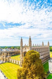 Взгляд высокого угла города кембриджа, великобритании.
