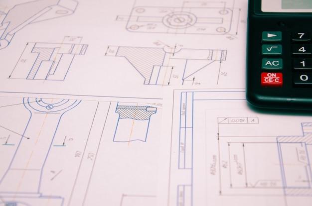계산기 darck를 사용한 전기 설치 계획에 대한 높은 각도 보기
